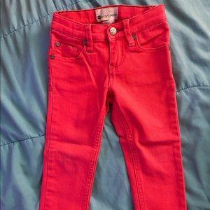 Roxy Girl Red Skinny Jeans 3T